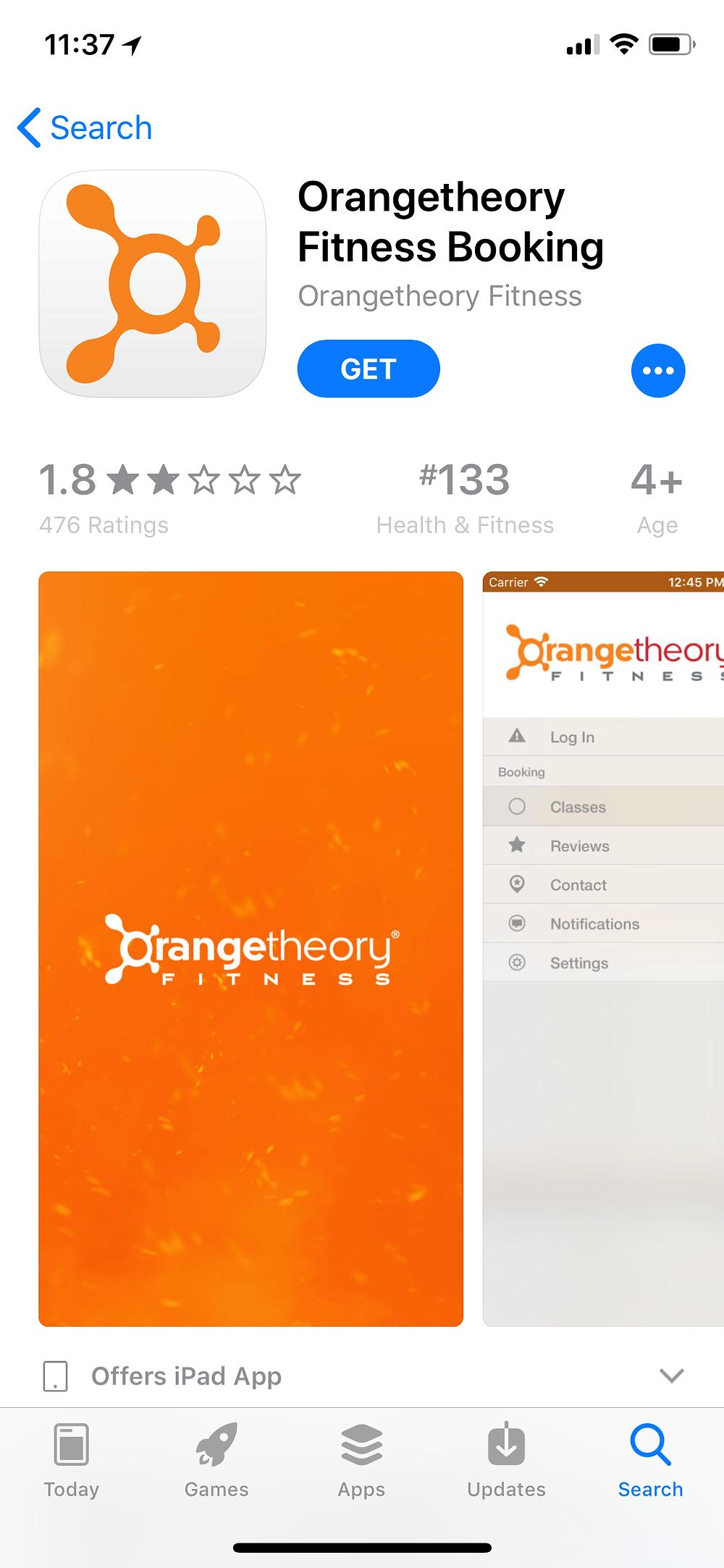 Orange Theory App