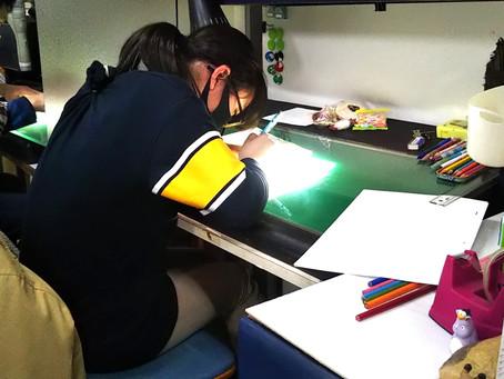 アニメスタジオに行ってきました!「ドキドキの線が体験!?」