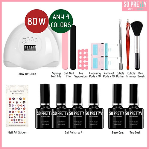 16-Piece Gel Manicure Kit (Any 4 Colors)