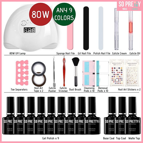 28-Piece Gel Manicure Kit (Any 9 Colors)