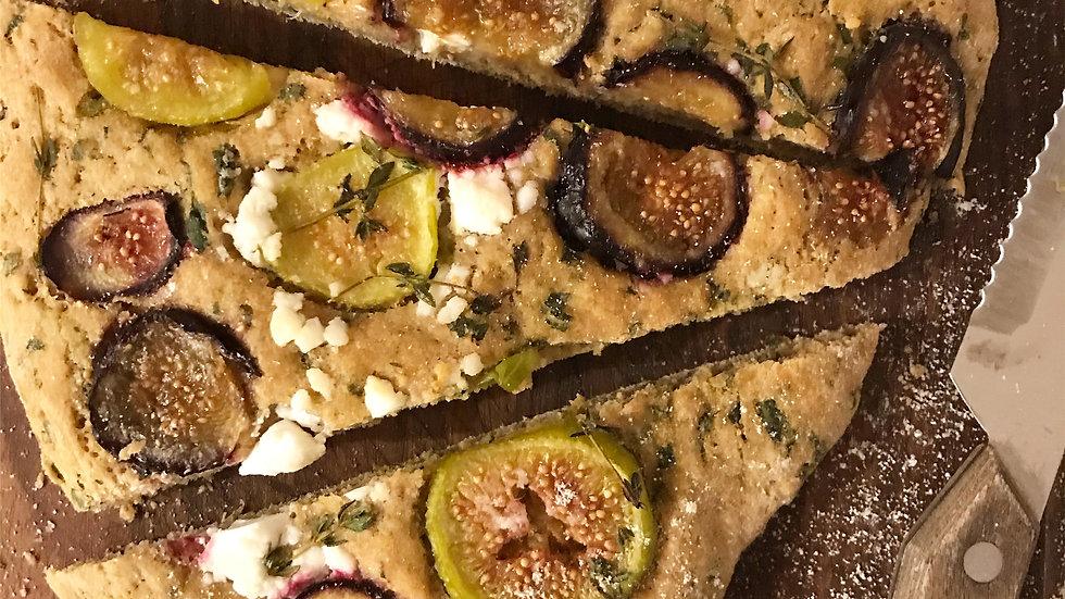Figs and Feta Cheese Flatbread