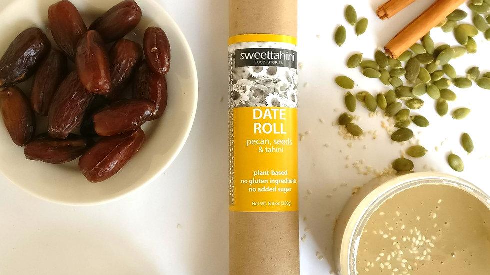 Date Roll - pecan, seeds & tahini