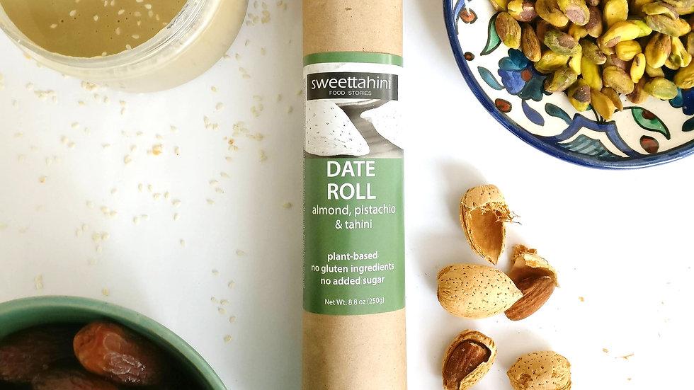 Date Roll - almond, pistachio & tahini