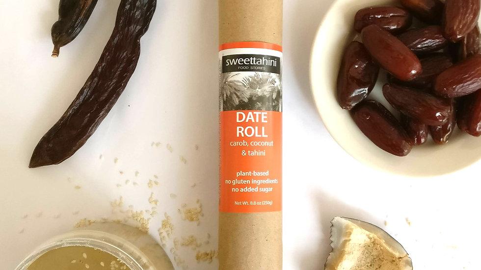 Date Roll - carob, coconut & tahini