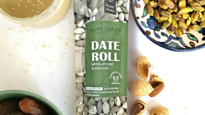 Date Roll - tahini, almond & pistachio