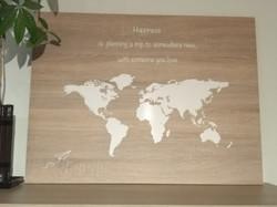 wereldkaart met whiteboardvinyl