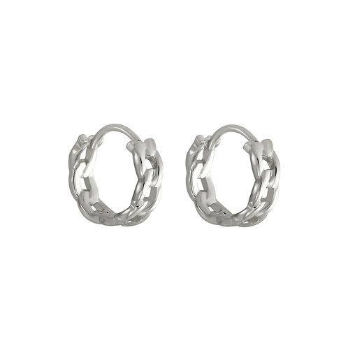 Sterling Silver Mini Chain Huggies