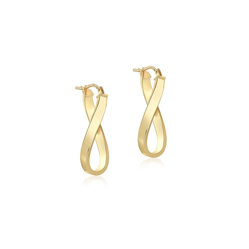 9ct Yellow Gold Billie Creole Hoops