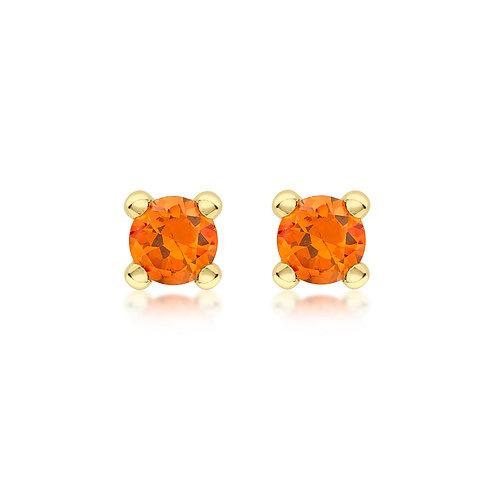 9ct Yellow Gold 4mm January Birthstone Stud Earrings