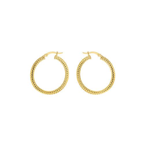 Yellow Gold Vermeil 30mm Forever Bead Hoop Earrings