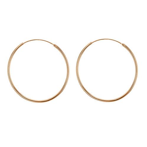 Rose Gold Vermeil 50mm Classic Hoop Earrings