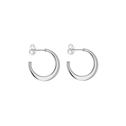 Sterling Silver Graduated Round 20mm Creole Hoops