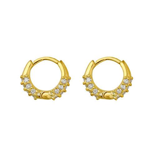 Gold Vermeil Mini Stone Set Cami Huggies