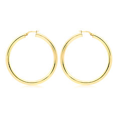 9ct Yellow Gold 50mm / 3mm Creole Earrings