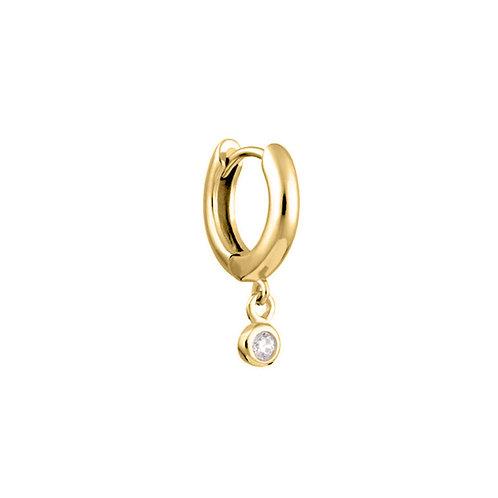 Gold Vermeil 10mm Kate Huggies Hoop Earring