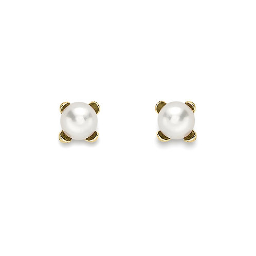 9ct Yellow Gold 3mm Pearl Stud Earrings
