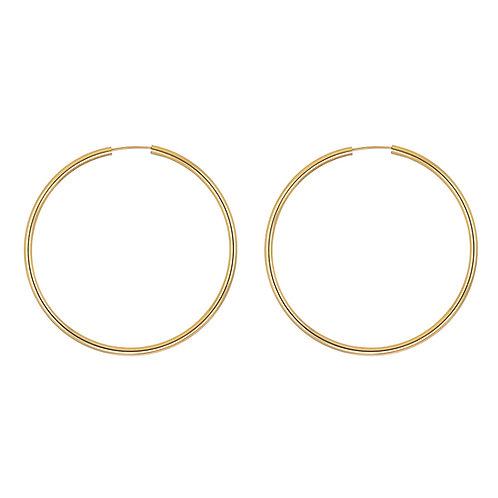 12ct Gold Filled 60mm Hoop Earrings