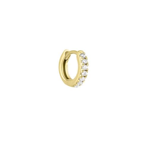 Baby 9mm Gold Vermeil Stone Set Clicker Hoop