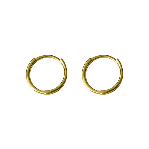 Yellow Gold Vermeil 11mm Luna Huggies