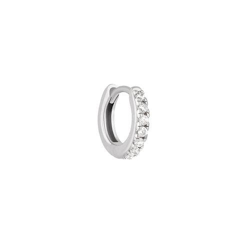 Sterling Silver 10mm Sara Huggies Hoop Earring