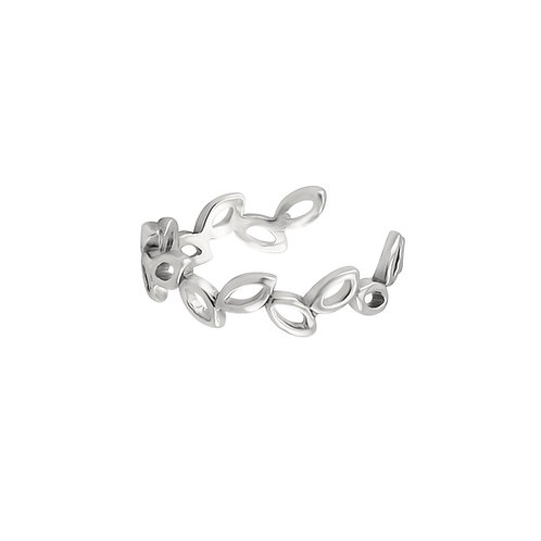 Sterling Silver Willow 13mm Ear Cuff (Conch Area)