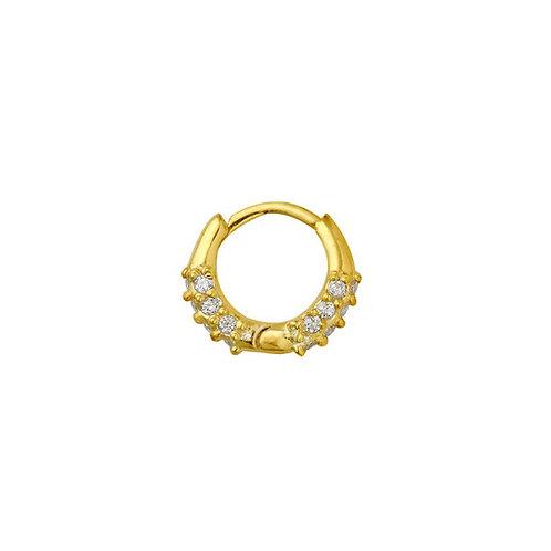 Yellow Gold Vermeil Cami Huggies Hoop Earring