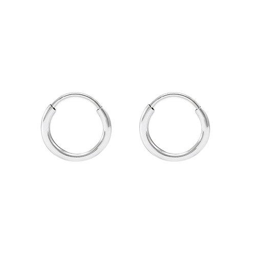 Sterling Silver 12mm Square Tube Hoop Earrings