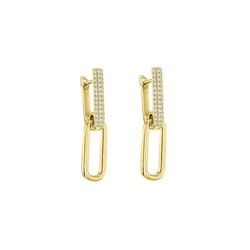 Yellow Gold Vermeil Monroe Luxury Drop Earrings