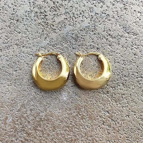 Yellow Gold Vermeil Leslie Hoop Earrings