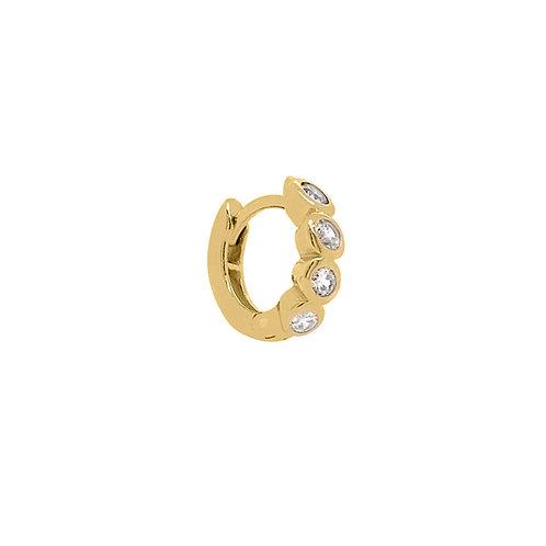 Gold Vermeil 10mm Hana Huggies Hoop Earring
