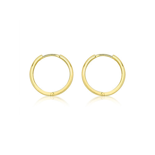 9ct Yellow Gold 17mm Huggie Earrings