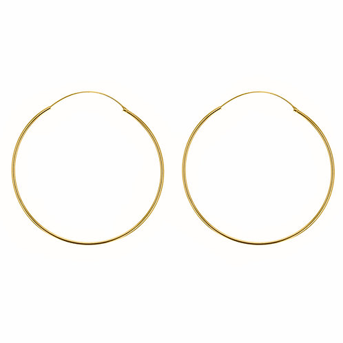 Yellow Gold Vermeil 60mm Classic Hoop Earrings