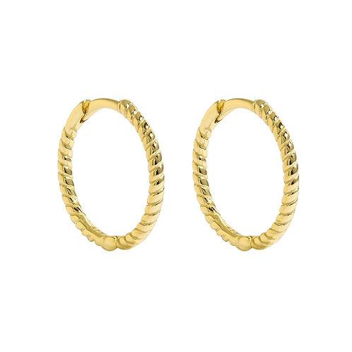 Yellow Gold Vermeil 15mm Rope Huggies