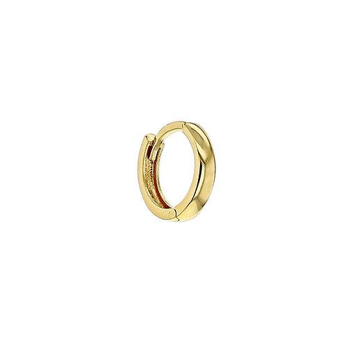 9ct Yellow Gold 13mm Huggy Click Hoop