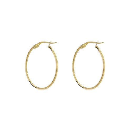 9ct Yellow Gold 20mm x 28mm Oval Hoops