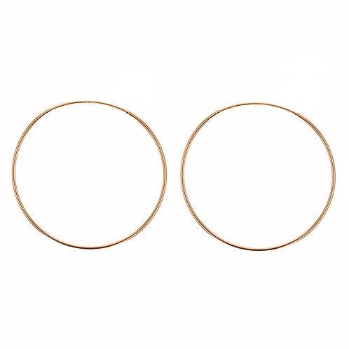 Rose Gold Vermeil 70mm Classic Hoop Earrings