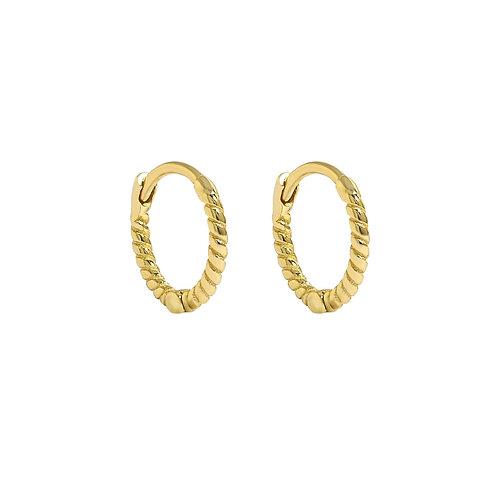 Yellow Gold Vermeil 11mm Rope Huggies