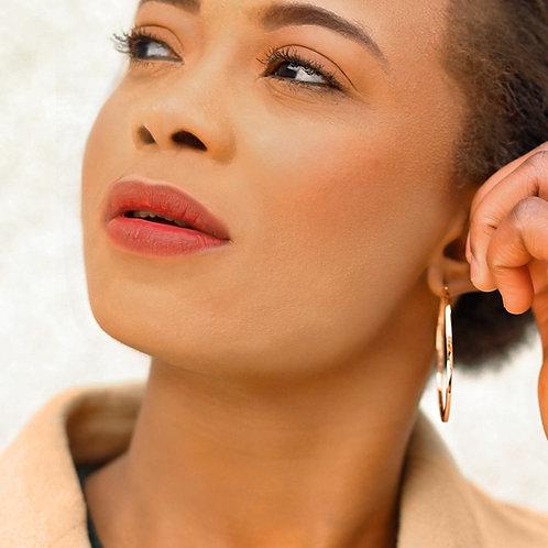 Rose Gold Vermeil 50mm Hoop Earrings