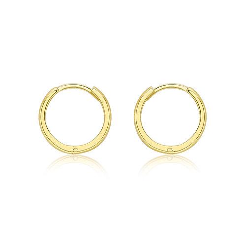 9ct Yellow Gold 13mm Huggie Earrings