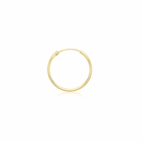 9ct Yellow Gold 18mm Sleeper Hoop