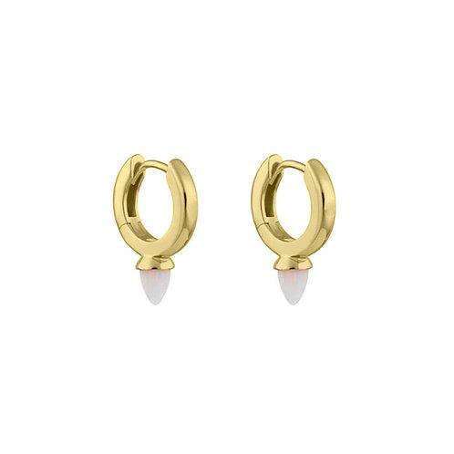 Gold Vermeil Mini Freddie Opal Drop Huggies