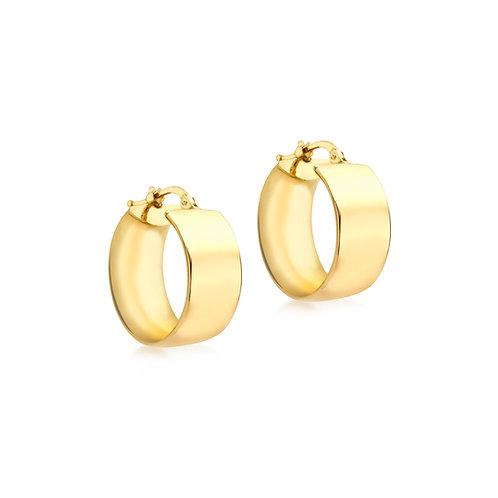 18ct Yellow Gold Luxury 19mm Hoops