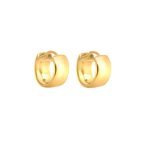 Gold Vermeil Thick Hinged Huggy Hoops