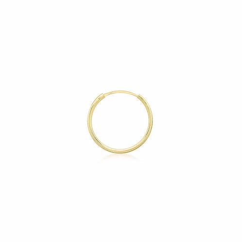 9ct Yellow Gold 15mm Sleeper Hoop