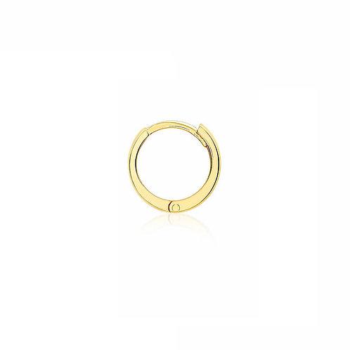 9ct Yellow Gold 11mm Huggie Click Hoop
