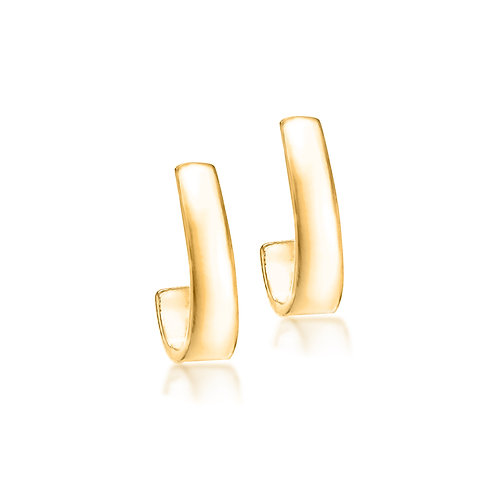 Gold Vermeil 13mm x 3.8mm Thick Graduated Hoops