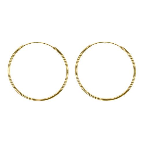 Yellow Gold Vermeil 50mm Classic Hoop Earrings