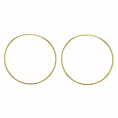 Yellow Gold Vermeil 70mm Classic Hoop Earrings