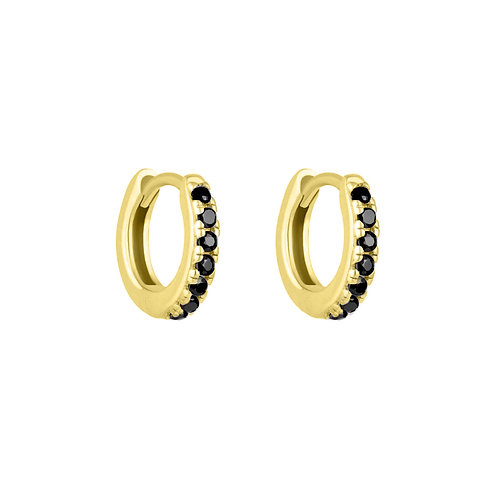 Gold Vermeil Mini Stone Set Lana Huggies