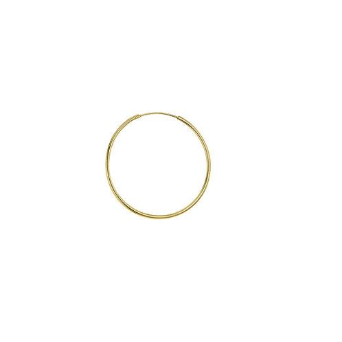 9ct Yellow Gold 25mm Sleeper Hoop